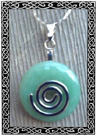 Celtic stone spiral pendant peacefulmind celtic stone spiral pendant aloadofball Image collections