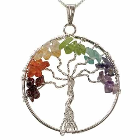 Chakra tree of life pendant peacefulmind chakra gem tree of life aloadofball Images